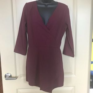 Abercrombie and fitch maroon romper size 4